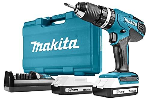 Makita HP457DWE10 Akku- Schlagbohrschrauber-Set inkl. 74tlg. Zubehör