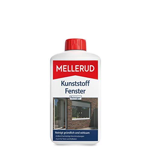 Mellerud Kunststoff Fenster Reiniger – Wirkungsvolles Mittel gegen hartnäckige Verschmutzungen an Fensterrahmen, Rollläden, Jalousien und mehr – 1 x 1 l