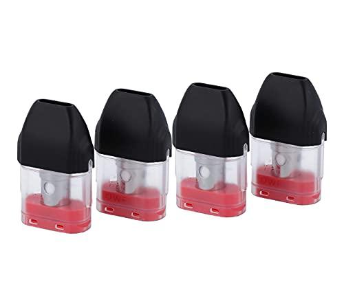 Uwell Caliburn Koko Pod Cartridge (1,2 Ohm), Uwell Ersatzkartusche 2 ml mit MTL Verdampferkopf für e-Zigarette, 4 Stück