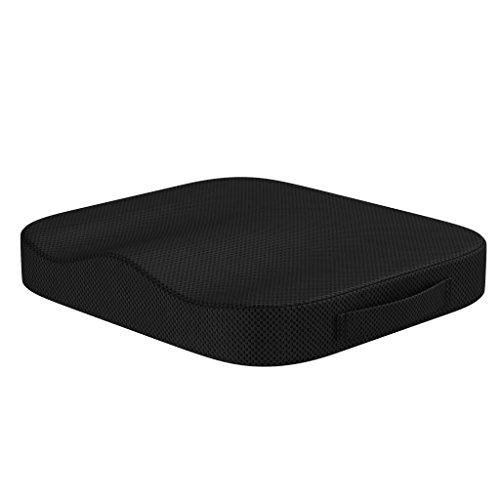 bonmedico Comfort Cushion, Ergonomisches Sitzkissen für besten Sitzkomfort, Stuhlkissen für Büro & Home Office aus innovativem Memory Foam, Sitzpolster universell einsetzbar