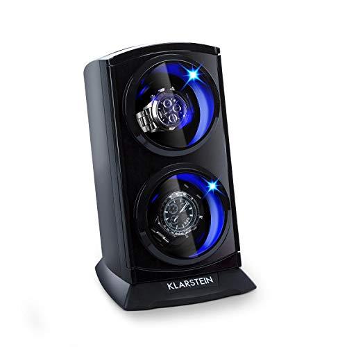 Klarstein St.Gallen Premium Uhrenbeweger für 2 x Automatikuhr mit LED Beleuchtung und Sichtfenster Creme