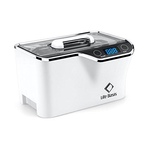 LifeBasis Ultraschallreiniger - Ultraschallreinigungsgerät 600ml Digitaler Ultraschallreiniger Ultraschallgerät 42KHz Ultraschall Gerät für Reinigung von Brille Schmuck Uhren